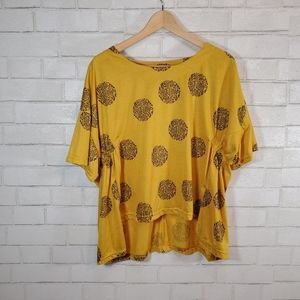Yellow cute short sleeve tee